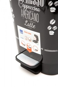 KIS KOSZ CHIC BIN COFFEE MENU 50L