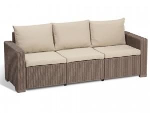 ALLIBERT SOFA CALIFORNIA BEŻOWA 3-OSOBOWA